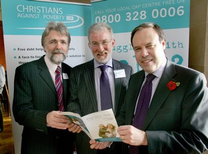 Mini-Brian Givans with Nigel Dodds