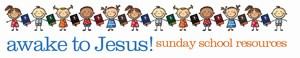 Mini-Awake to Jesus Word Header children