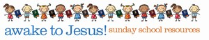 Mini-Awake to Jesus Word Header children